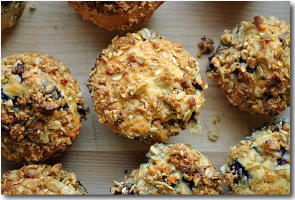 Blueberry Granola Coffee Cake Muffins